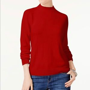 Luxsoft Mock-Neck Sweater